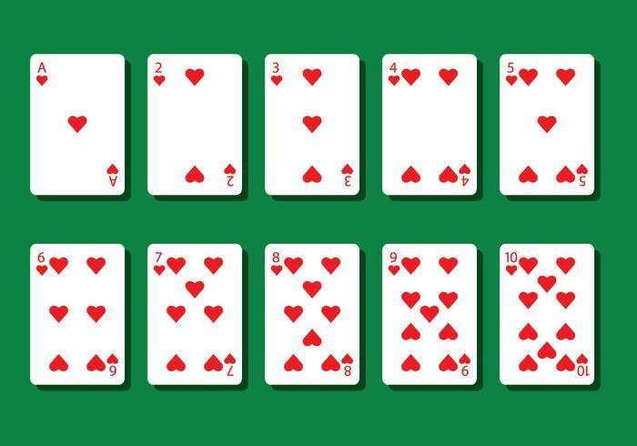 Hart Poker Card Vectoren
