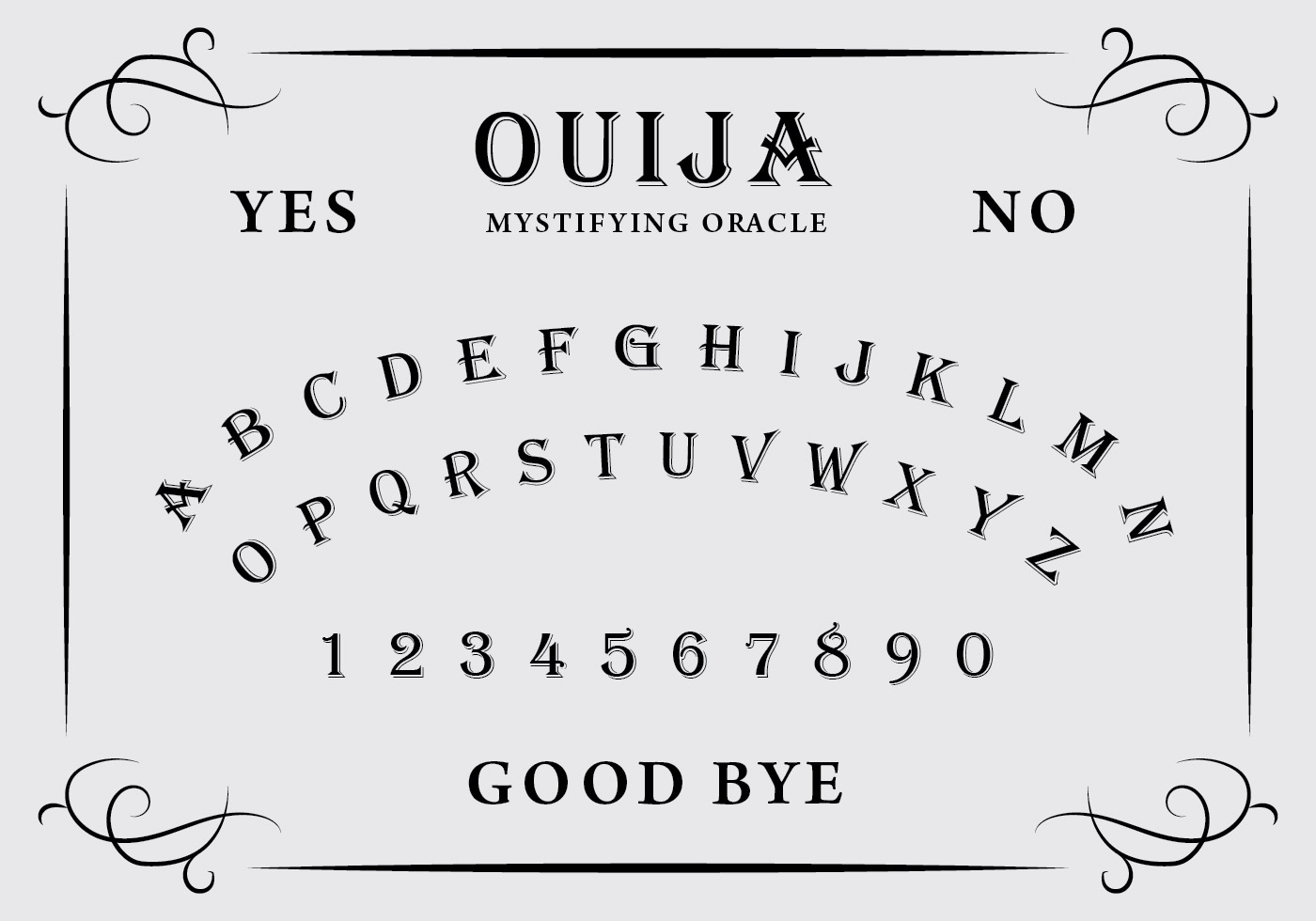 ouija board free vector art