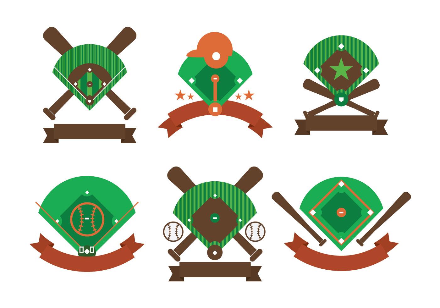 baseball diamond logo free vector art 7981 free downloads rh vecteezy com Baseball Skull Vector baseball diamond vector art