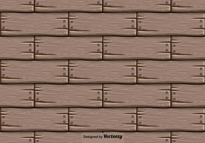 Vector Wooden Background - Seamless Pattern