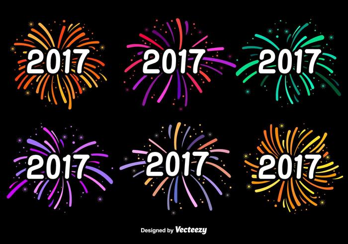 New Year 2017 Vector Labels