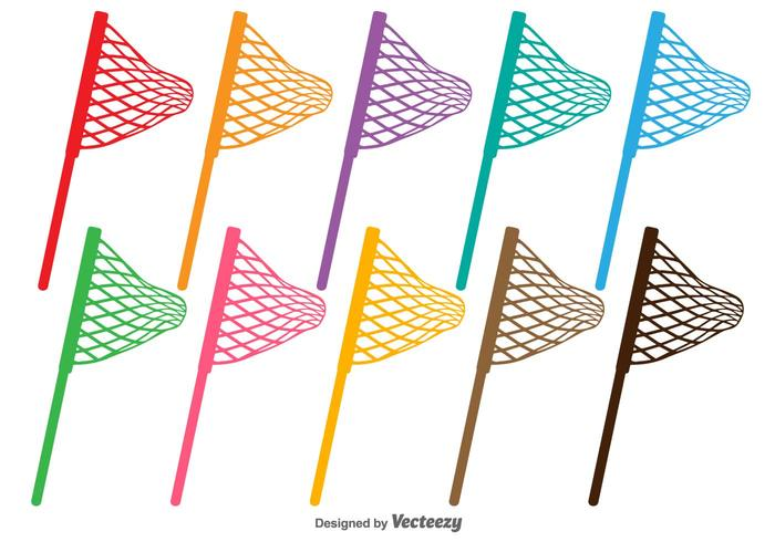 Fishing Net Vector Silhouettes