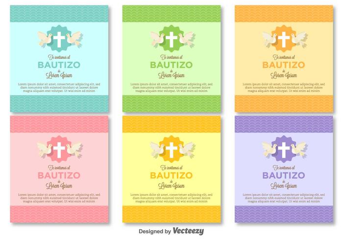 bautizo vector invitations blank template download free vector art
