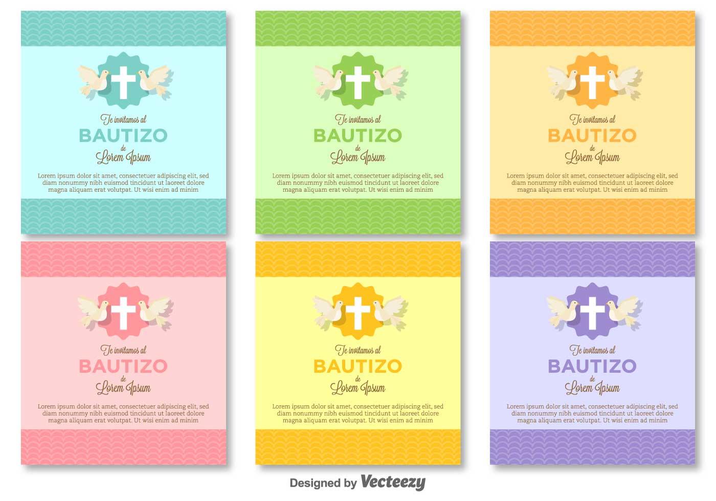 Bautizo Vector Invitations Blank Template Download Free