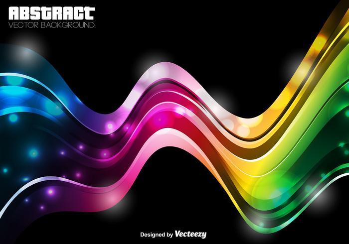 Modèle abstrait - Vector Colorful Wave