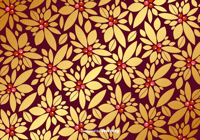 Vector Christmas Golden Pattern