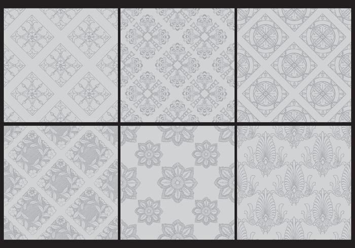 Gris patrones monocromáticos Toile