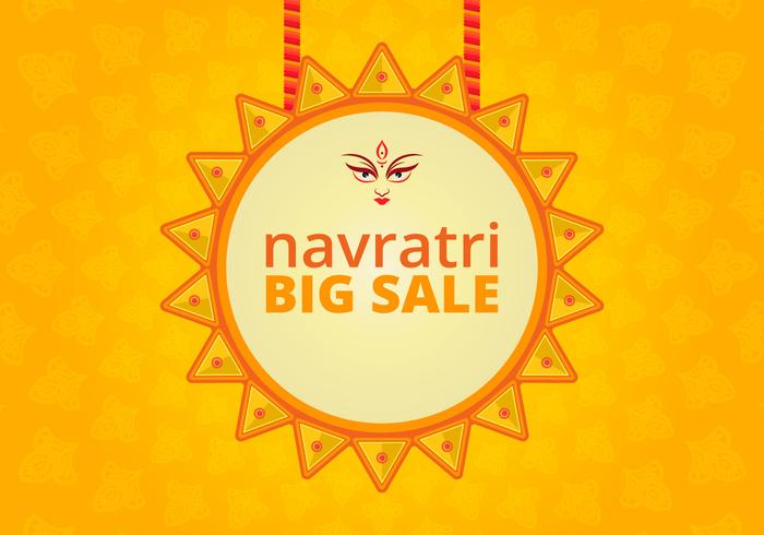 Navratri Big Verkauf Illustration vektor