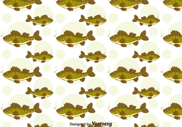 Green Walleye Seamless Pattern