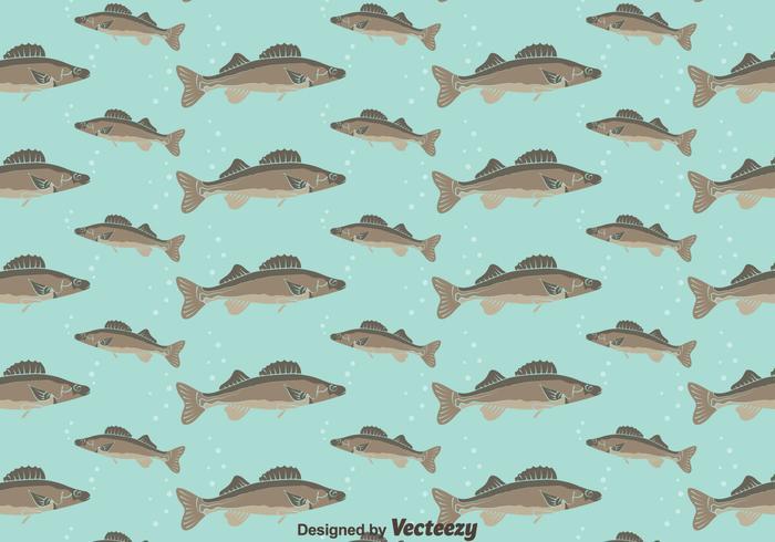 Walleye Seamless Pattern Background