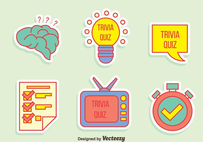 Trivia Quiz Element Vector