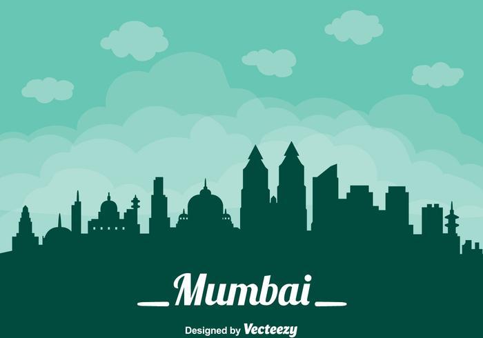 Paisaje urbano de la ciudad de Mumbai vector