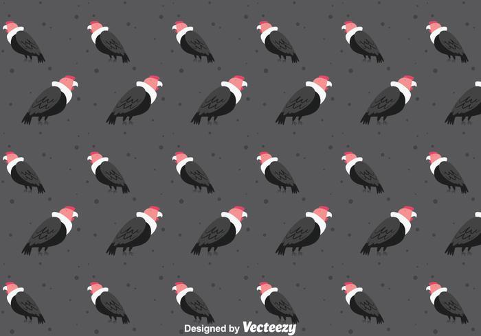 Kondor fågel sömlösa mönster vektor