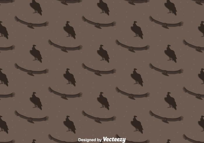 Condor pájaro sin fisuras patrón de fondo vector