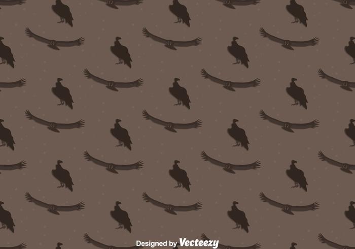 Condor Bird Seamless Mönster Bakgrund vektor