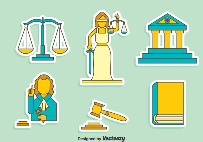 Justitie Element Vector Set