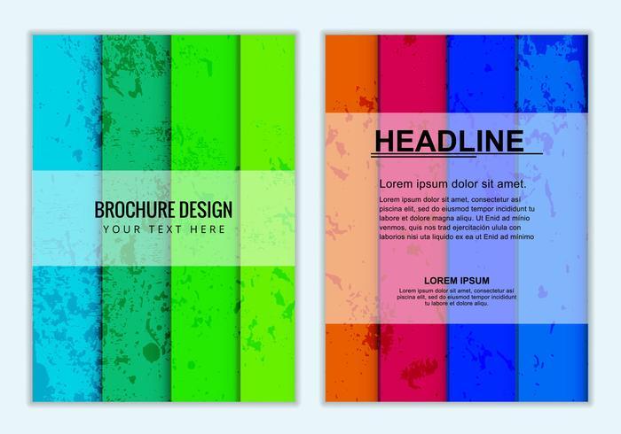 Brochure Business Colorée Vectorisée Gratuite