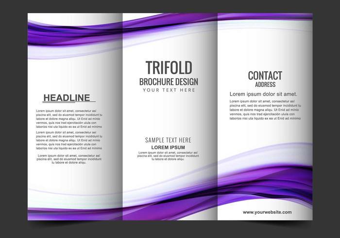 Libere el folleto del triple del vector