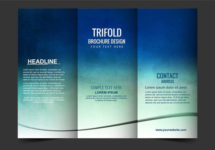 Brochure Vector Free Tri Fold