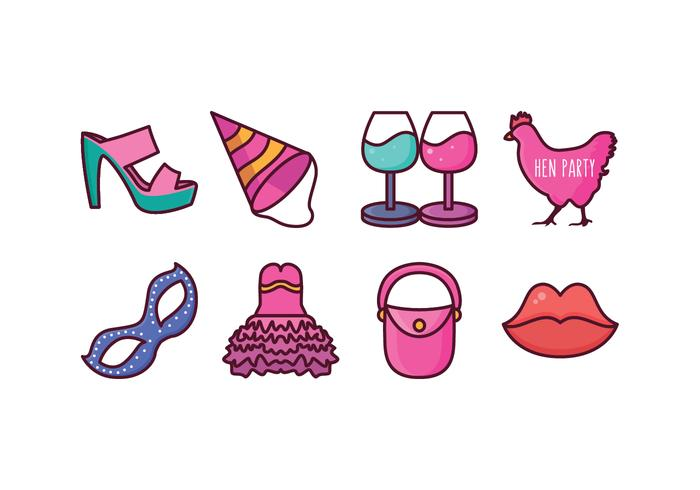 Free Hen Party Icons
