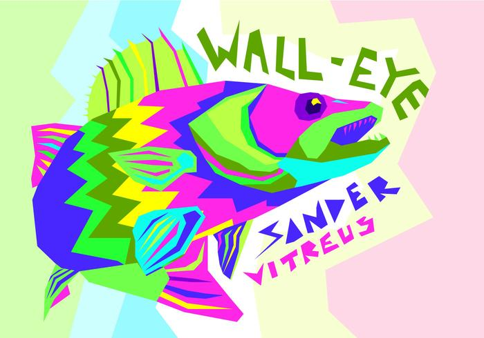 Gratis Walleye Vektorillustration vektor