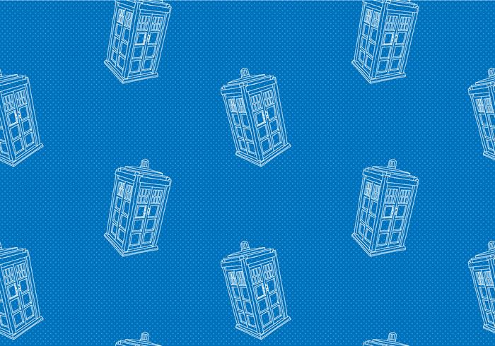 Free Tardis Seamless Pattern Vector Illustration