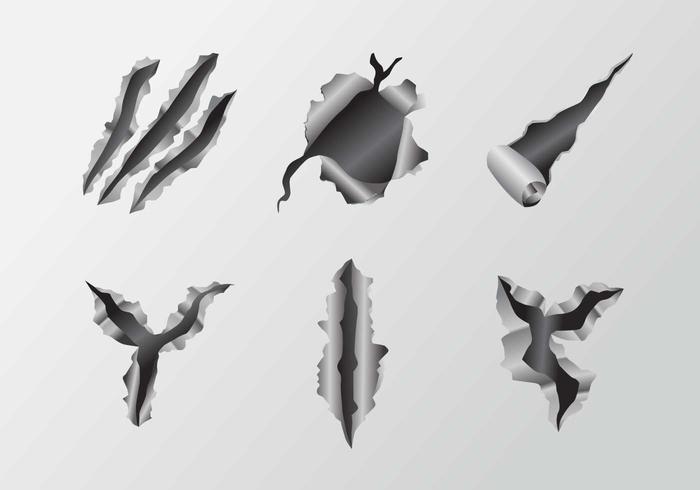 Scratch Metal Tear Vectors
