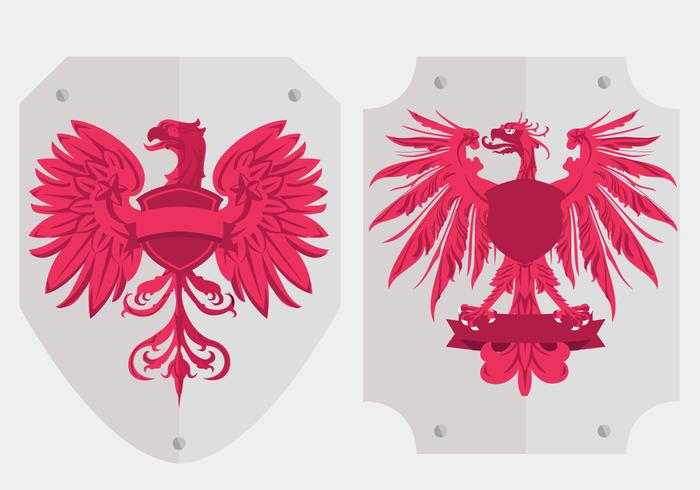 Polish eagle logo shield vectors