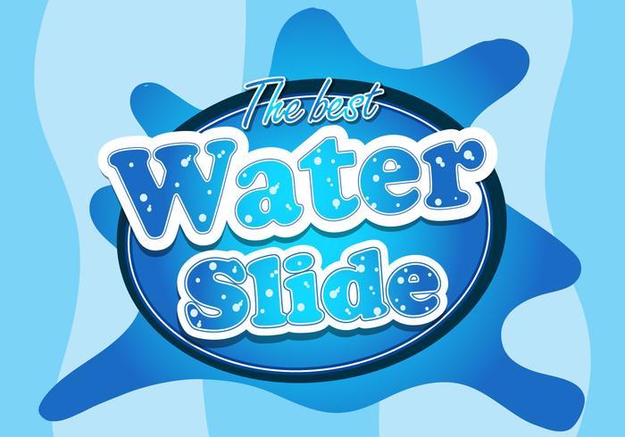 Water slide font logo illustration