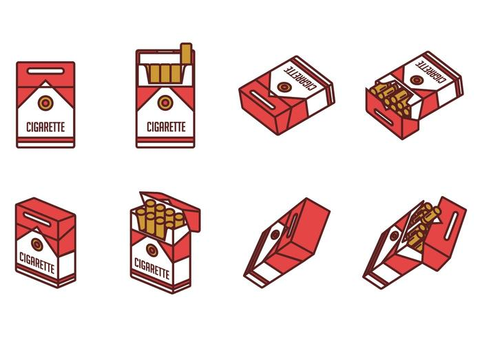 Cigarette Pack Vectors