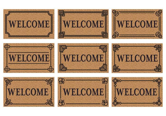 Welcome Door Mat Vector