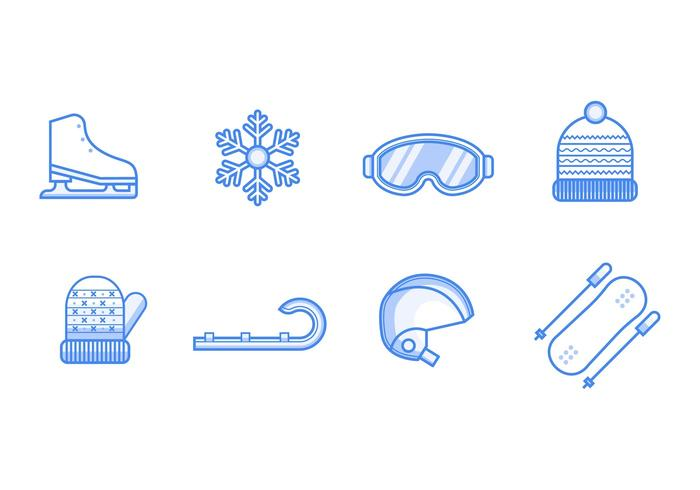Free Winter Sport Icons Vector