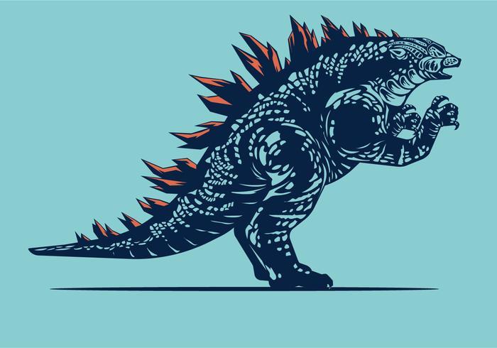 Bulky Godzilla Vector