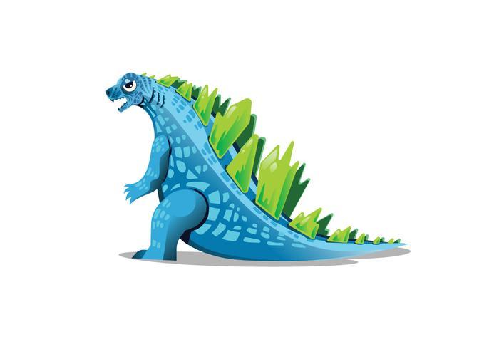Blauer Godzilla Vektor