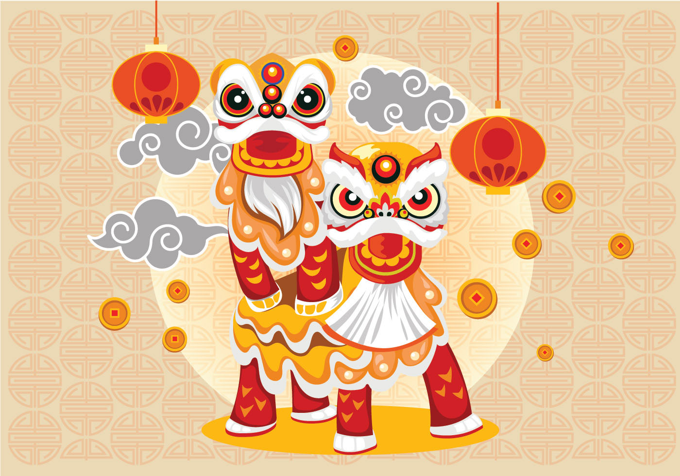 Chinese New Year Free Vector Art 11223 Free Downloads