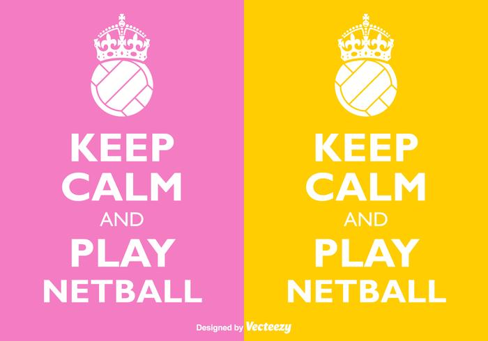 Vector Keep Calm And Play Netball