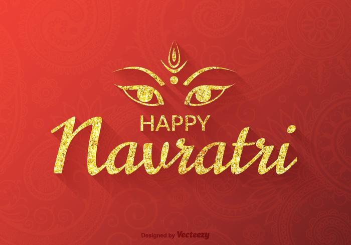 Vector libre Happy Navratri Background