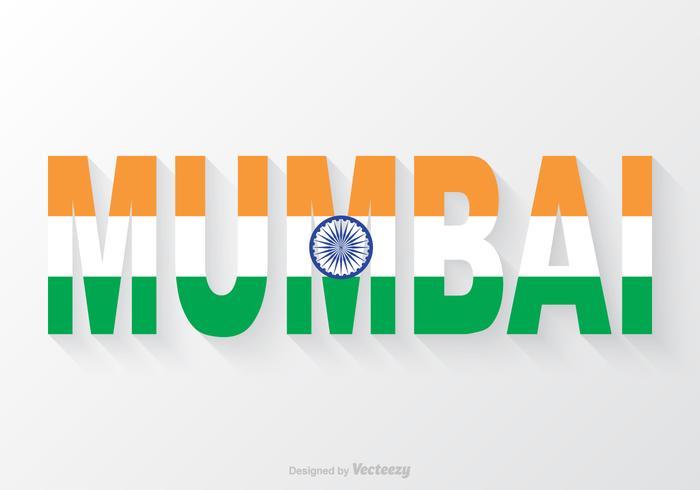 Texto livre de mumbai do vetor mumbai