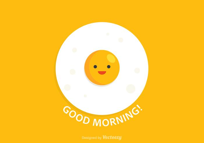 Good Morning Egg Vector Card