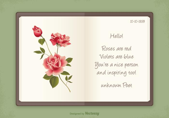 Free Vintage Poetry Album Vector