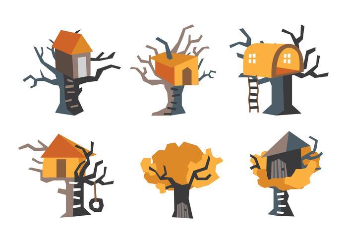Orange treehouse vektor illustration