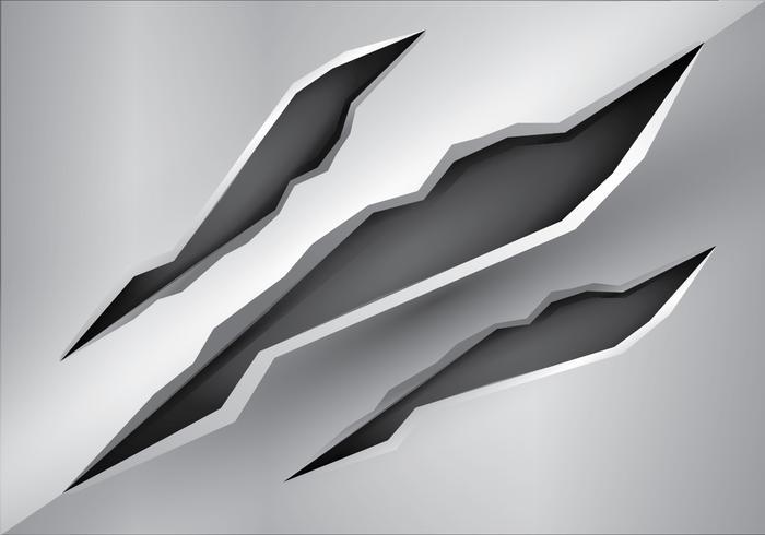 Gratis Metalen Tear Vector Illustratie