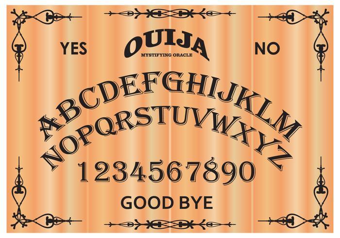 Libre Ouija Junta Ilustración Vectorial