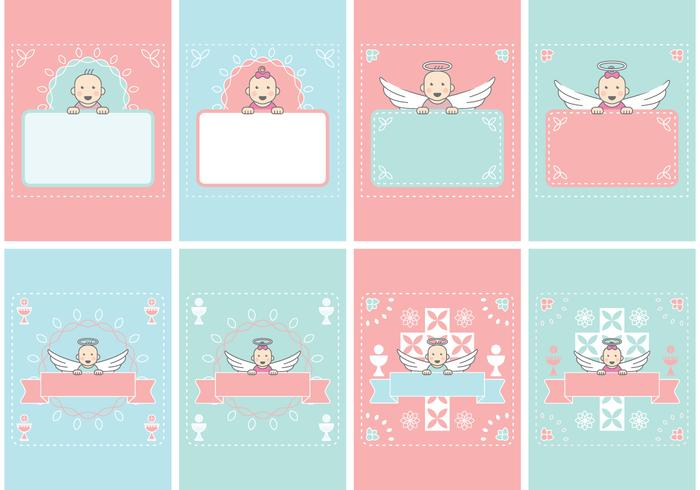 Baby Card Invitation vector