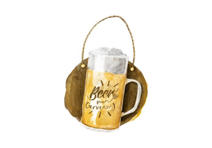 Gratis aleman öl vattenfärg vektor
