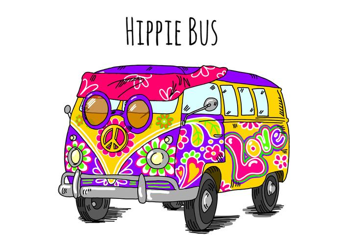 Hippie Bus Background