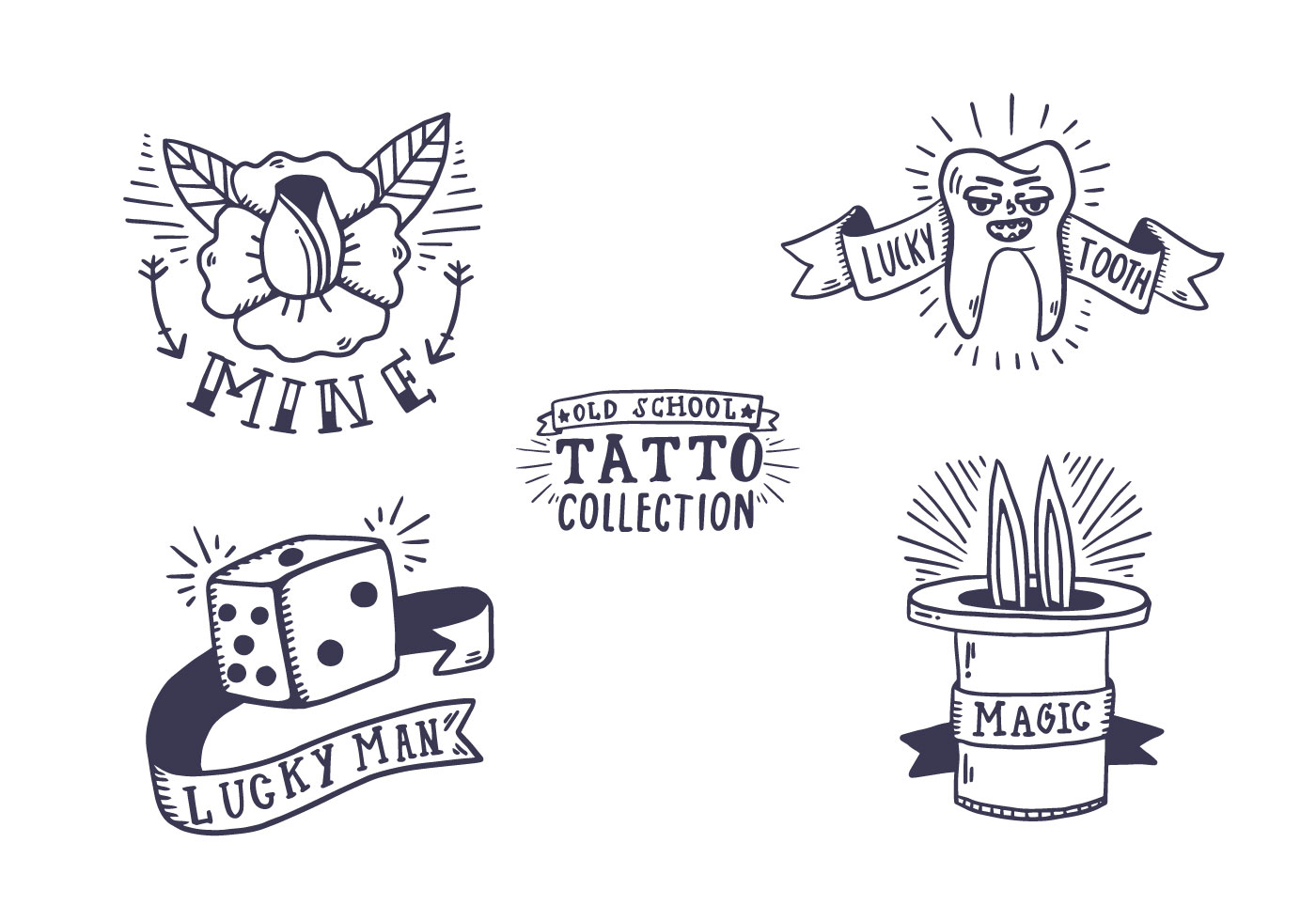 Free Old School Tattoo Collection - Download Free Vector