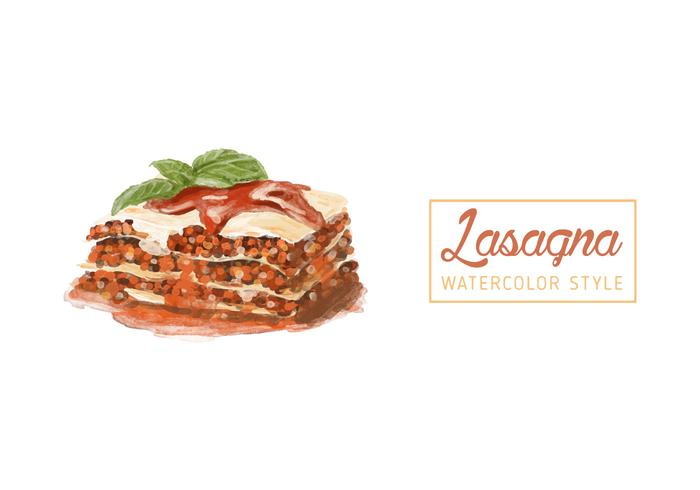 Free Lasagna Watercolor Vector