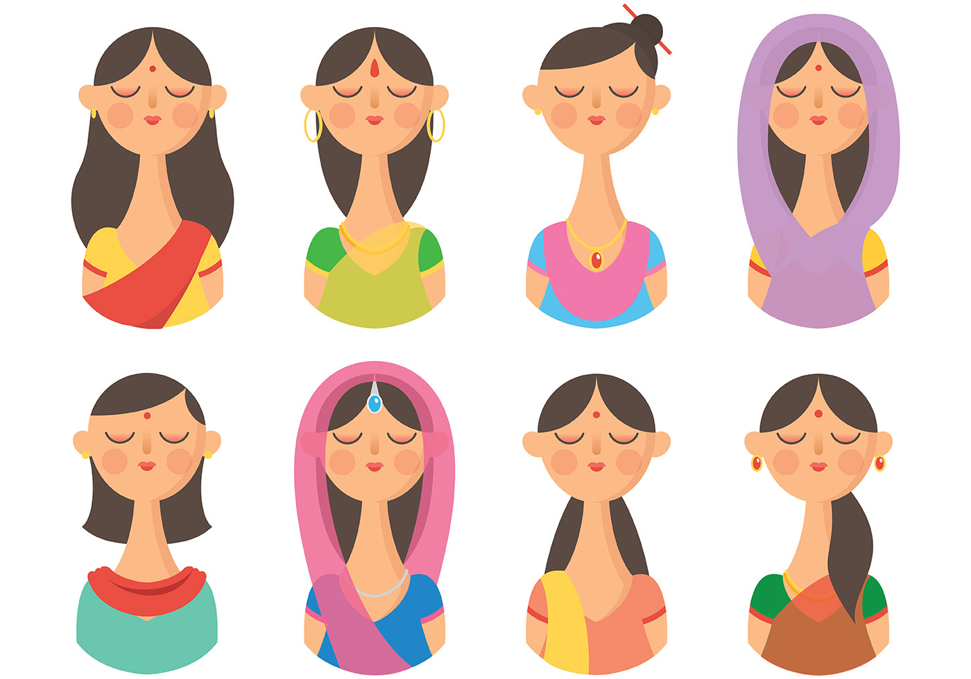 Indian Woman Free Vector Art - (3690 Free Downloads)