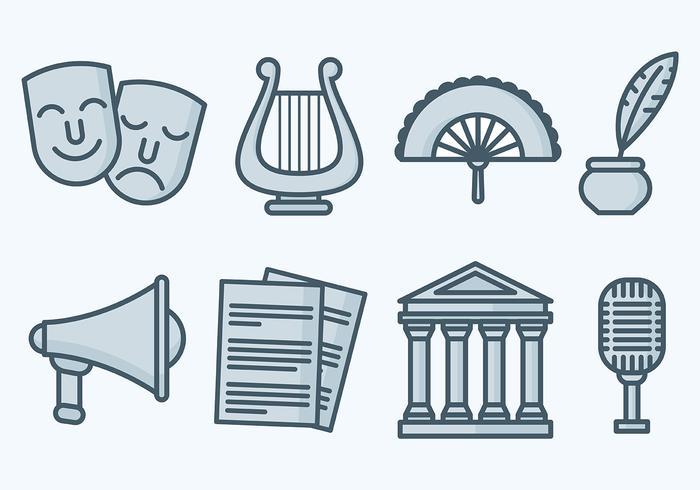 Vector de ícones do teatro livre